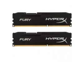 Модуль памяти 16Gb DDR3 1600M Hz HyperX Fury Black (2x8GB) Kingston (HX316C10FBK2/16)