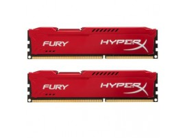 Модуль памяти DDR3 16Gb (2x8GB) 1600 MHz HyperX Fury Red Kingston (HX316C10FRK2/16)