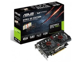 Видеокарта ASUS GeForce GTX750 Ti 2048Mb STRIX OC (STRIX-GTX750TI-OC-2GD5)
