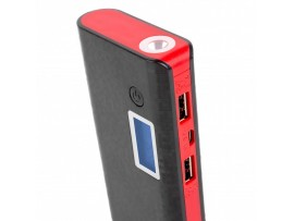 Батарея универсальная ColorWay 10000 mAh Black/Red (CW-PB100LIB2BK-DF)