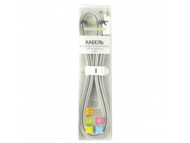Дата кабель AUZER USB 2.0 – Lightning 8-pin 1.0м Grey (AC-L1GR)