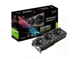 Видеокарта ASUS GeForce GTX1080 8192Mb ROG STRIX GAMING OC 11GBPS (ROG-STRIX-GTX1080-O8G-11GBPS)